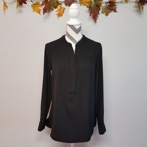 Kenar Black Long Sleeve Blouse